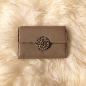 Beige Mini Coach Wallet